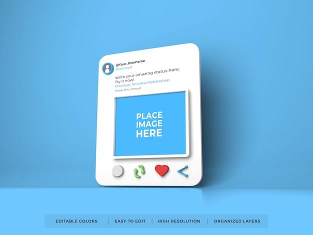 Twitter post social media mockup Premium Psd