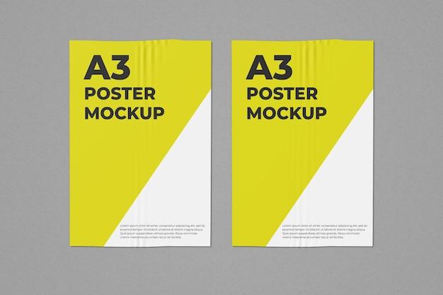 2つのa3ポスターモックアップ