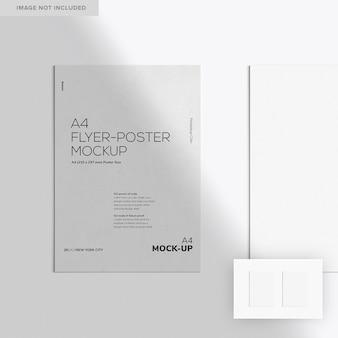 Два макета флаера и плаката формата а4