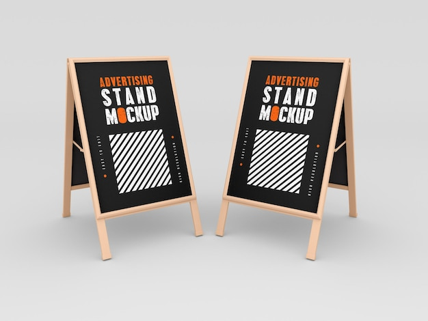 Two advertising stand mockup