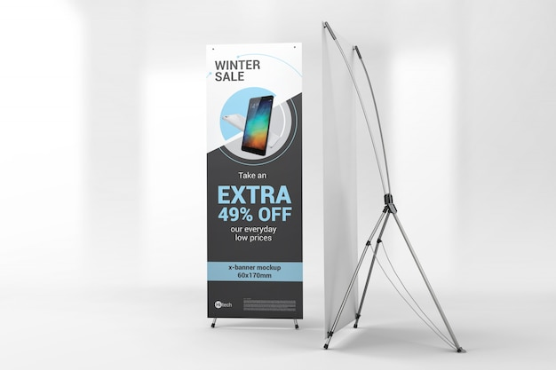 Two advertising x-banners mockup