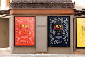 Two billboard mockups