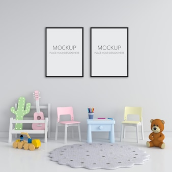 Two blank photo frame for mockup