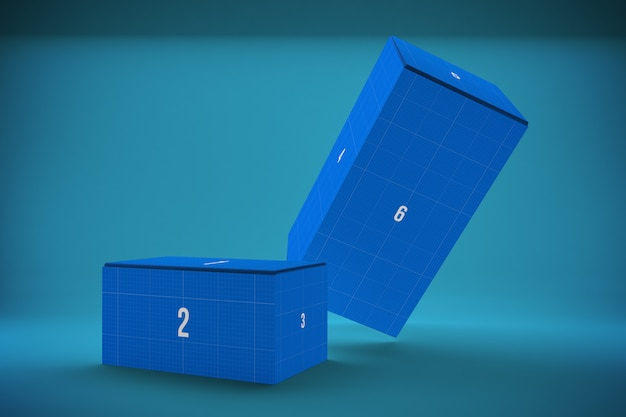 Two boxes mockup