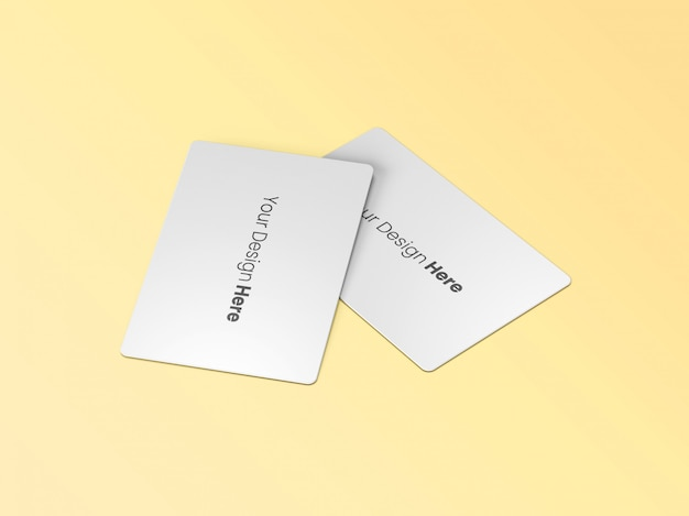 Two business cards minimal