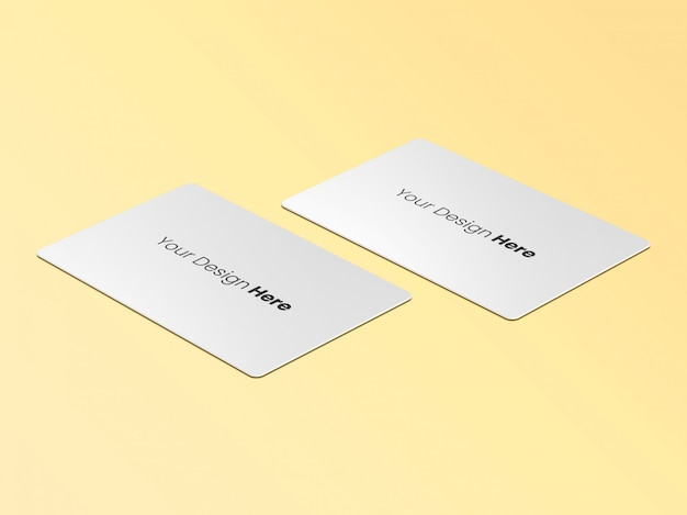 Two business cards perspective