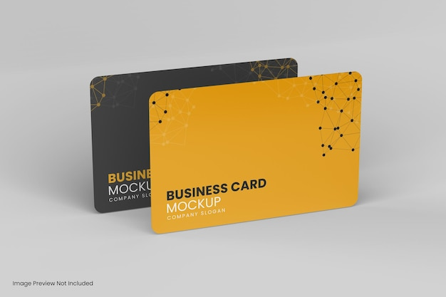 Two bussiness card mockup design isolated