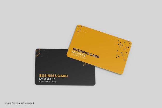 分離された2つのビジネスカードのモックアップデザイン