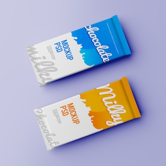Two chocolate bar package mockup