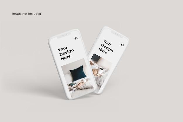 Макет двух глиняных смартфонов