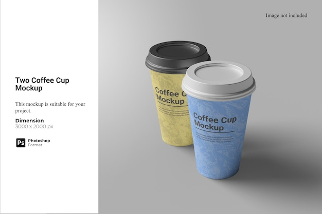 Two coffee cup mockup