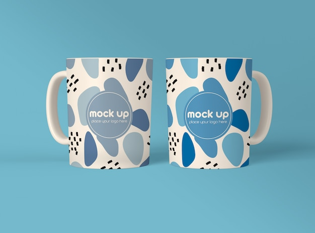 Two coffee mugs mockup