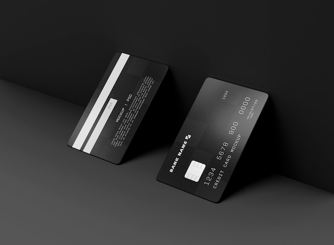 Two credit cards mockup