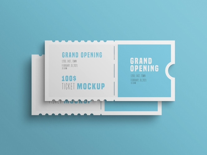 Two event ticket  mockup