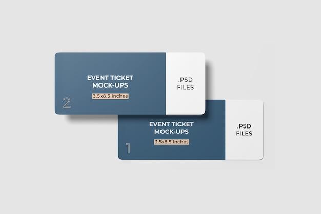 이벤트 티켓 모형 2 개 앵글 뷰