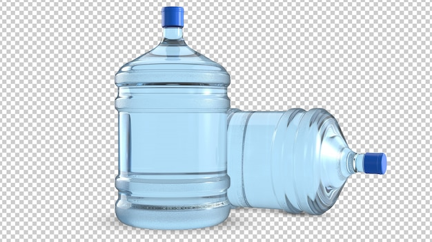 Two five gallon big plastic water cooler bottles