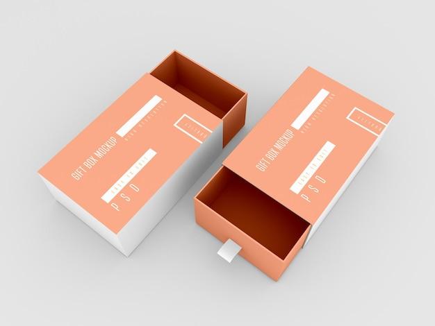 Макет двух подарочных коробок