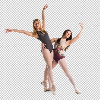 Two girls dancing ballet