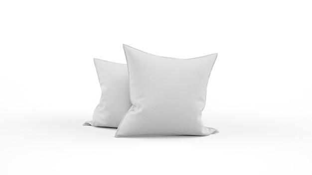 Две серые изолированные подушки