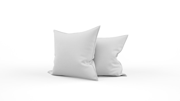 Two grey cushion isolated