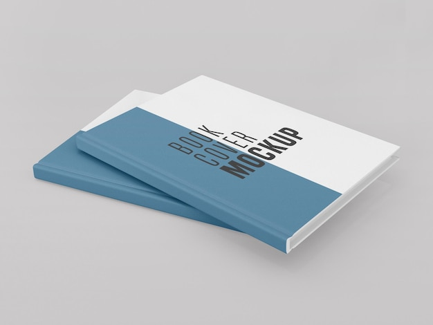 Two hard cover book  mockup