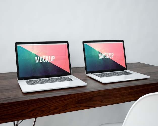 Two laptops mock up
