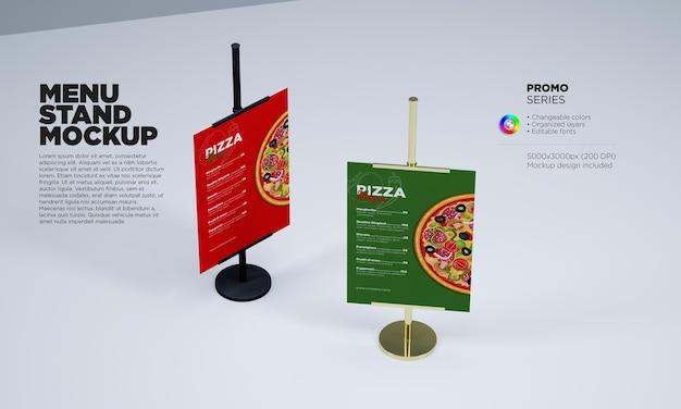 Шаблон с двумя держателями меню в 3d-рендеринге