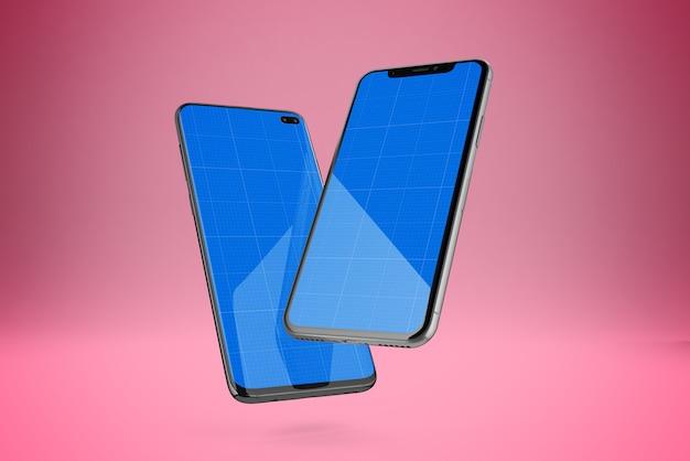 Two mobiles mockup
