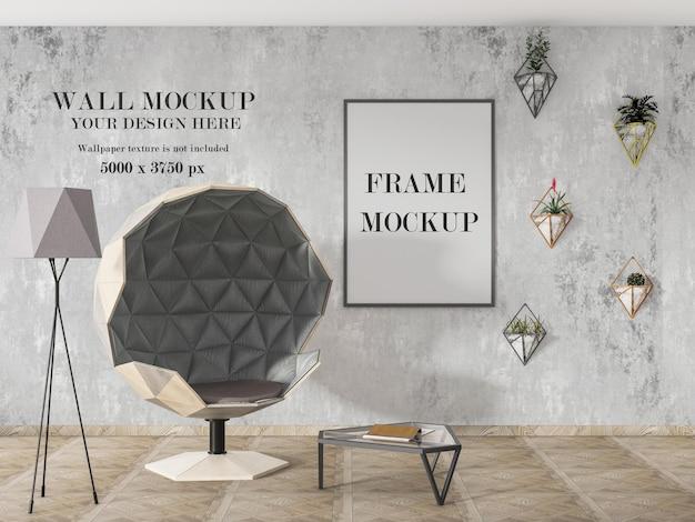 Два макета в интерьере с мебелью в современном стиле