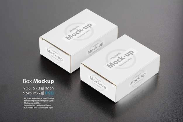 Two pillboxes packages on dark background