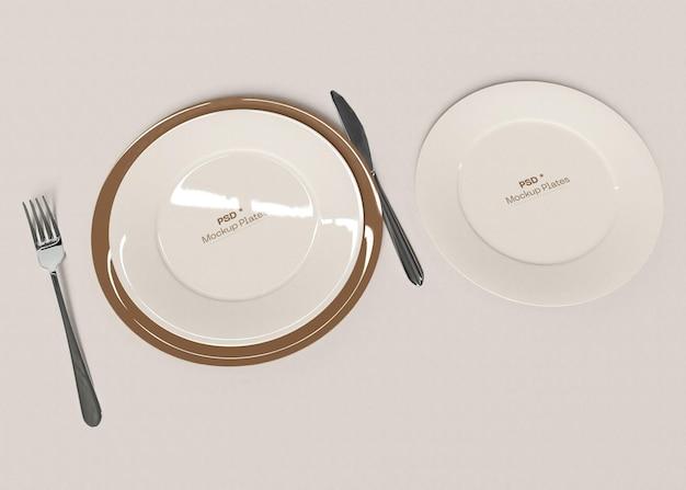 Two plates mocku