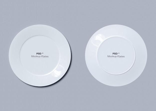Mockup di due piatti
