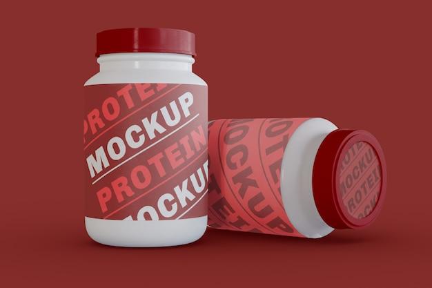 Two proteins jars mockup