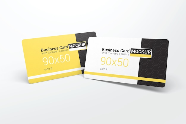 Two realistic business card mockups