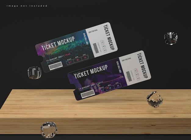 두 개의 둥근 모서리 티켓 모형