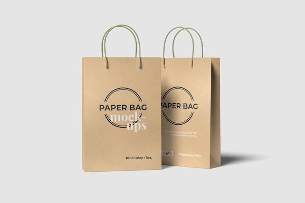 Мокапы двух сумок для покупок