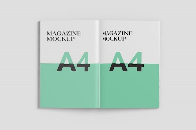 Two side magazine mockup