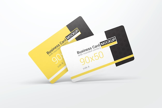 Two simple business card mockups