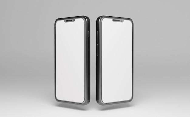 2つのスマートフォンモックアップpsdファイル