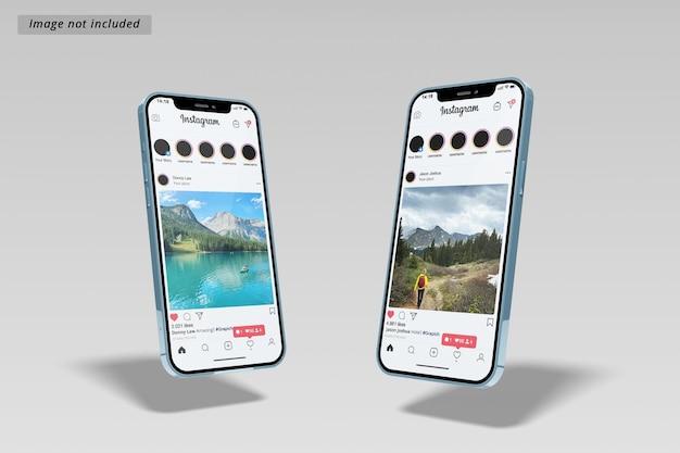 Two smartphone mockup