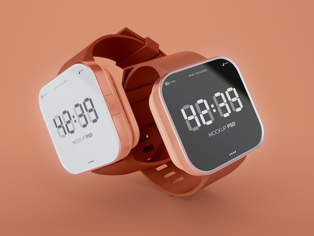 Two smartwatch mockup