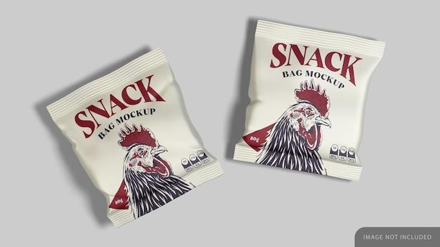 Two snack bag mockup
