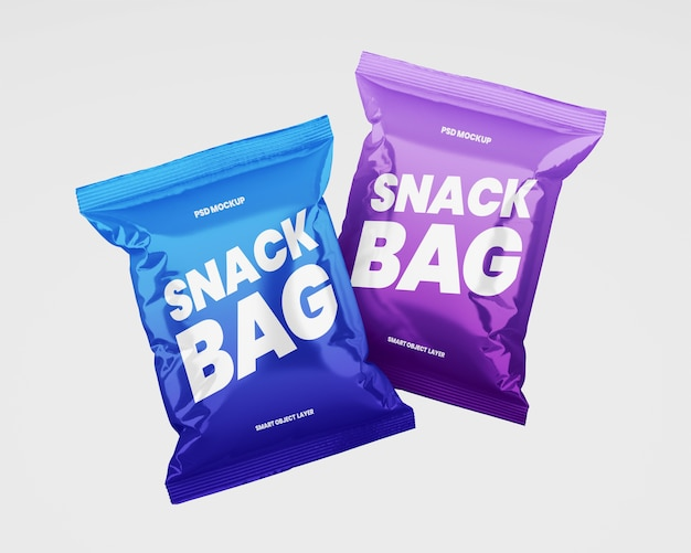 Two snack packaging mockup