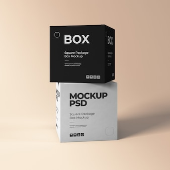 Two square box mockups