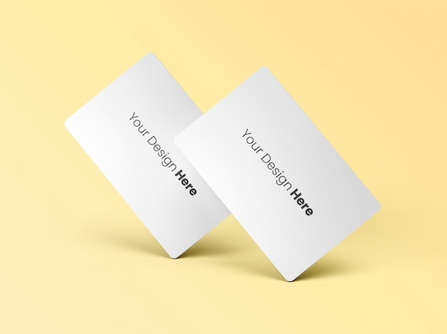 Two standing business cards minimal