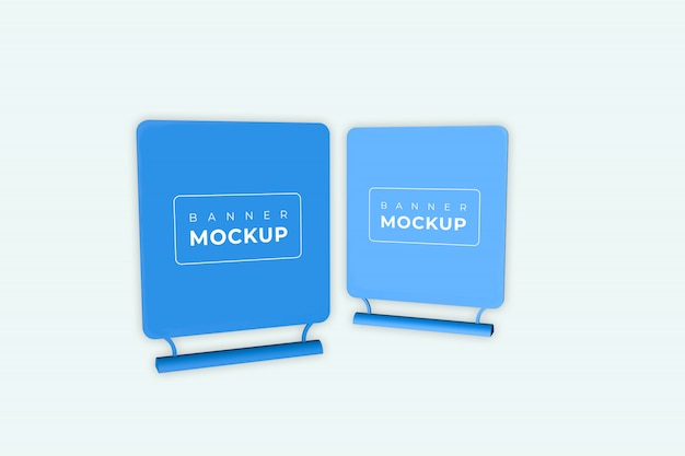 Two table tent mockup premium psd