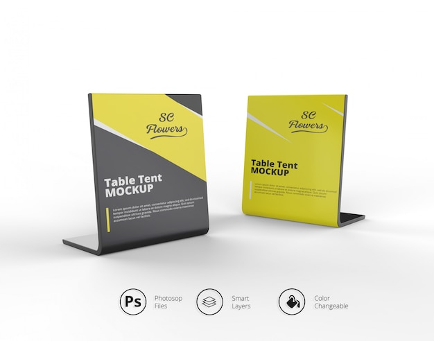 Two table tent mockup