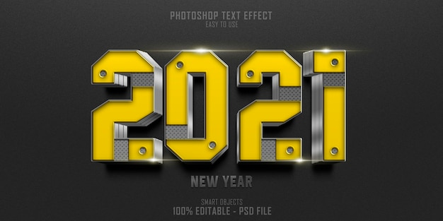 Two thousand and twenty one text style effect template