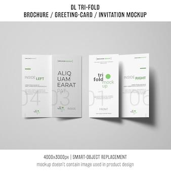 Две трижды брошюры или макет приглашения
