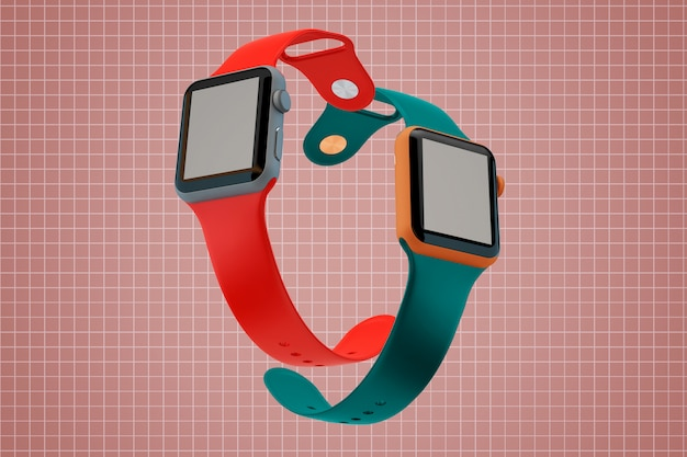 Two watches mockup